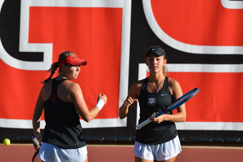 Georgia's Mariana Gould and Katarina Jokic ITA Southeast Regional Championships Dan Magill Tennis Complex Athens, Ga. Friday, Oct. 20, 2017 Photo by Steven Colquitt