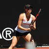 Georgia's Mariana Gould during the match against Auburn at the Dan Magill Tennis Complex in Athens, Ga., on Saturday, March 31, 2018. (Photo by Steffenie Burns)