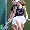 The Argyle tennis team competes in a tournament at Argyle High School on April 9, 2021. (Katie Ray | The Talon News)