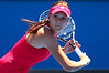 Agnieszka Radwanska of Poland in action at the Australian Open 2012