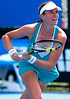 Johanna Konta of Great Britain in action during the Qualifying at the Australian Open, 2014