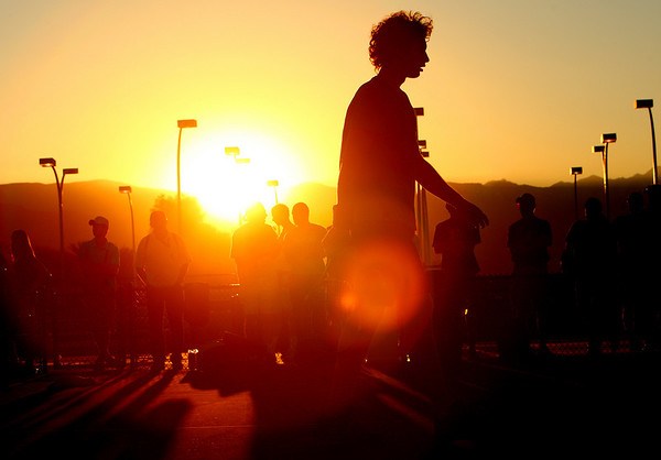 Ernests Gulbis, Sunset at Indian Wells, 2010