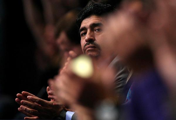 Diego Maradona at the Barclays ATP World Tour Finals, London, 2010