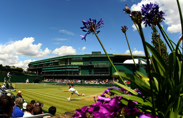 A view of Court 19 in front of No.1 court at Wimbledon, 2011