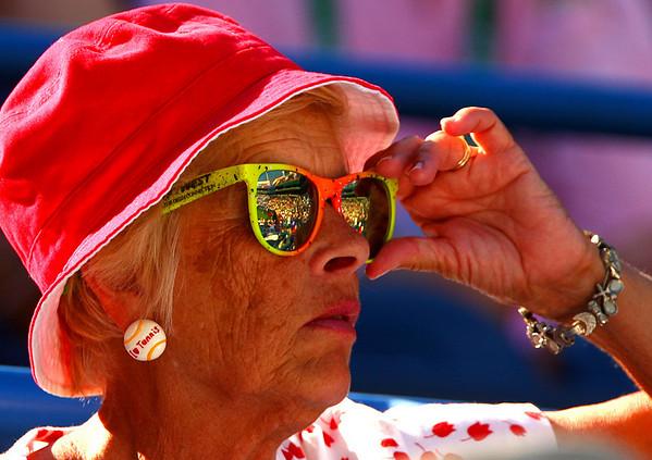 Tennis fan, Indian Wells, 2010