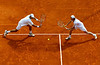 Jamie Murray and Max Mirnyi in doubles action, Monte-Carlo, 2008