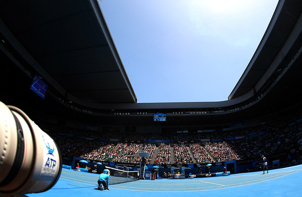 Rod Laver Court from the Photographer's Pit, Australian Open, 2012