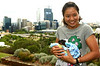 Li Na of China holds a possum and kangaroo at King's Park during in the Hopman Cup 2012, Perth