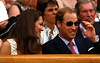 The Duke and Duchess of Cambridge watch Andy Murray of Great Britain at Wimbledon, 2011