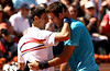 Novak Djokovic and Juan Martin del Potro, Roland Garros, 2011