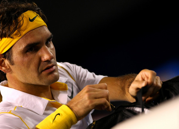 Roger Federer of Switzerland, Australian Open, Melbourne, 2011