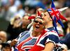 British fans, Wimbledon, 2011
