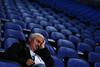 Roger Federer's father sleeps, Barclays ATP World Tour Finals, London, 2010
