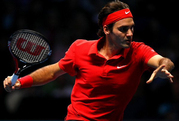Roger Federer of Switzerland, Barclays ATP World Tour Finals, London, 2010