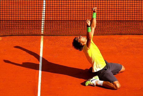 Spain's Rafael Nadal wins his 7th straight Monte-Carlo Masters Series tournament in a row, 2011