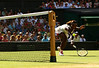 Serena Williams of USA in action at Wimbledon 2010