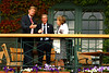 Tim Henman's parents chat to Peter Fleming, Wimbledon, 2011