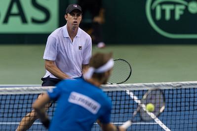 Davis Cup Tennis - USA vs. Slovakia - Sears Centre Arena 09.14.14