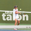 The Argyle Tennis Team competes in the District match with Eagles vs Krum at Argyle High School in Argyle, Texas, on September 11, 2018. (Georgia Penn / The Talon News)