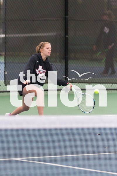 Arglye Eagles Tennis competes in the District Tournament at North Lakes Recreation Center in Denton, Texas, on April, 5, 2018. (Andrew Fritz / The Talon News)