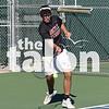 The Argyle tennis team competes in the district tennis tournament at Argyle tennis courts, winning the district at the  Argyle tennis courts in Argyle, Texas, on Oct 10, 2018. (Karina Navarro / The Talon News)
