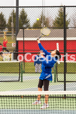 Girls Tennis: Heritage 7, Park View 1 by Tim Gregory on March 30, 2017