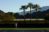 Victoria Azarenka of Belarus in action during a practice session in Indian Wells