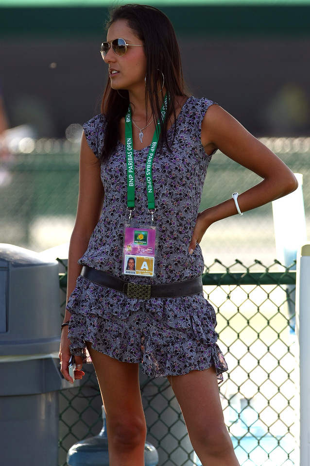 Alejandra Murray, wife of Jamie Murray of Great Britain, during practice in Indian Wells