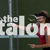Argyle Eagles take on the Melissa Cardinals in a JV tennis match at Argyle High School in Argyle, Texas, on September 20, 2018. (Sloan Dial / The Talon News)