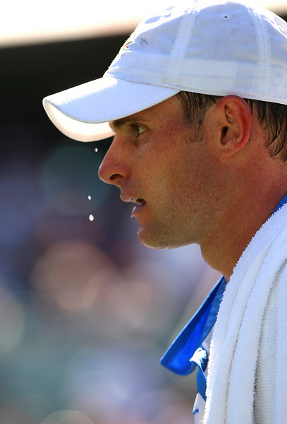 Andy Roddick of USA in action during his defeat in Miami