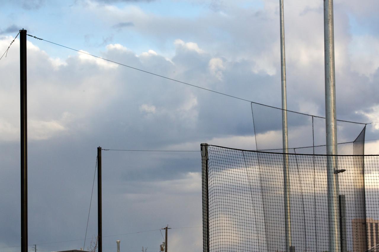 Clouds poles wires C9613