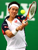 Kei Nishikori of Japan in action at the Rolex Masters in Shanghai