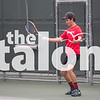 Matt Hynek competes in the UIL 4A State Tennis Tournament at the George P. Mitchell Tennis Center in College Station, Texas on May 16, 2016. (Christopher Piel/The Talon News)