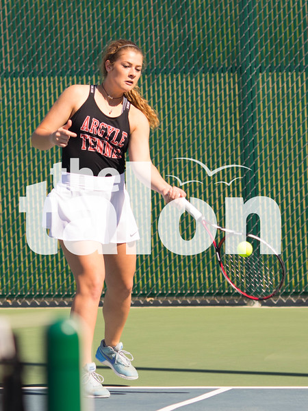 The Argyle Tennis team competes in the District Tennis meet at Argyle High School in Argyle, Texas on April 5 2019.