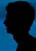 The silhouette of Andy Murray