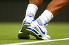 The shoes of Rafael Nadal of Spain