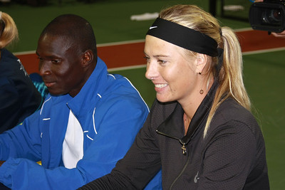 Maria Sharapova and Tim Kpulun