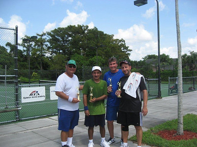1st and 2nd place teams Left to right Champions: Hernando Lopez, Jim Arguello Finalists: Dave Jelonok, Greg Bartolai