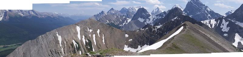Panorama of Tent Ridge