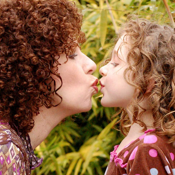 Teresa's favorite photo. Mother and daughter with lovely curls. Photo, hair and makeup by Teresa Callen.