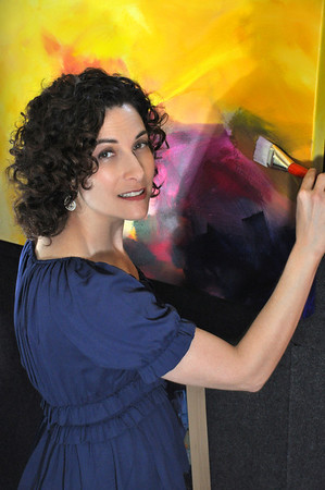 Curls and art. This woman is lovely both inside and out, plus a talented artist in Palo Alto, CA. Hair, makeup and photography by Teresa Callen.Curls are 100% natural.
