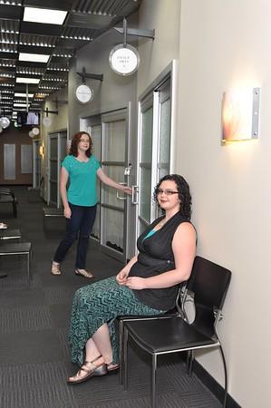 The inner hallway and the door to Studio 6