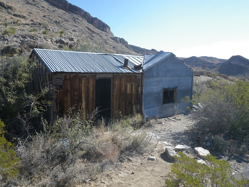 Old mining shack.