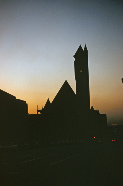 TRRA 9 - Nov 7 1954 -Union Station at Sunset - St Louis MO