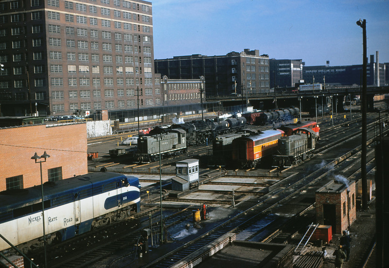 TRRA 14 - Dec 22 1955 - Alco no  181 @ 14th street engine terminal with NKP St  Louis MO