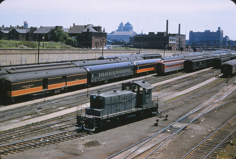 TRRA 54 - May 30 1957 - EMD Engine from Jefferson Ave Viaduct St  Louis MO