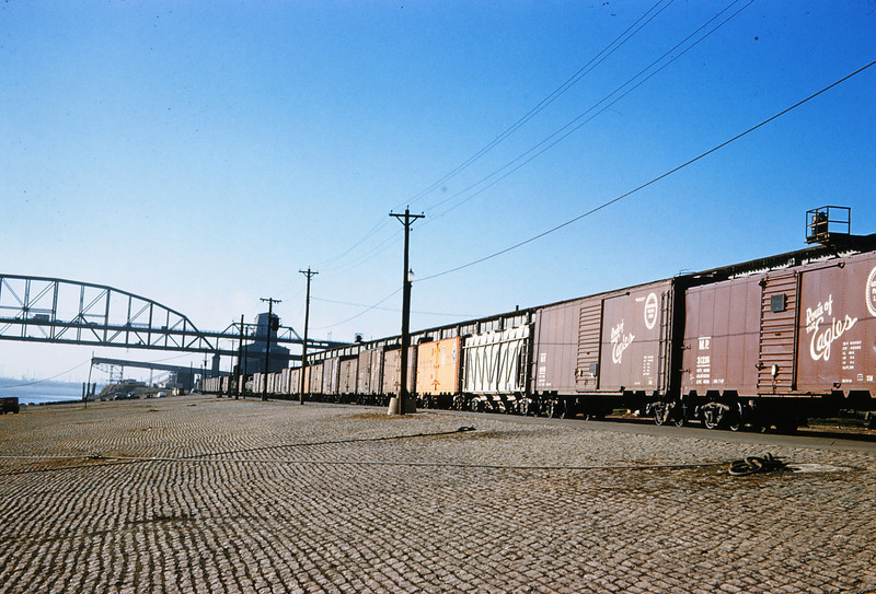 TRRA 64 - Dec 1 1957 - Freight Cars on St Louis Riverfront