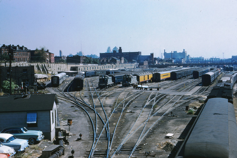 TRRA 30 - Sep 24 1956 - Jefferson Ave Coach Yard looking east from Ewing Ave St  Louis MO