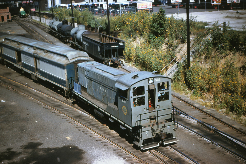 TRRA 1 - Sep 2 1954 - EMD switcher no  531 @ 14th st  St Louis MO