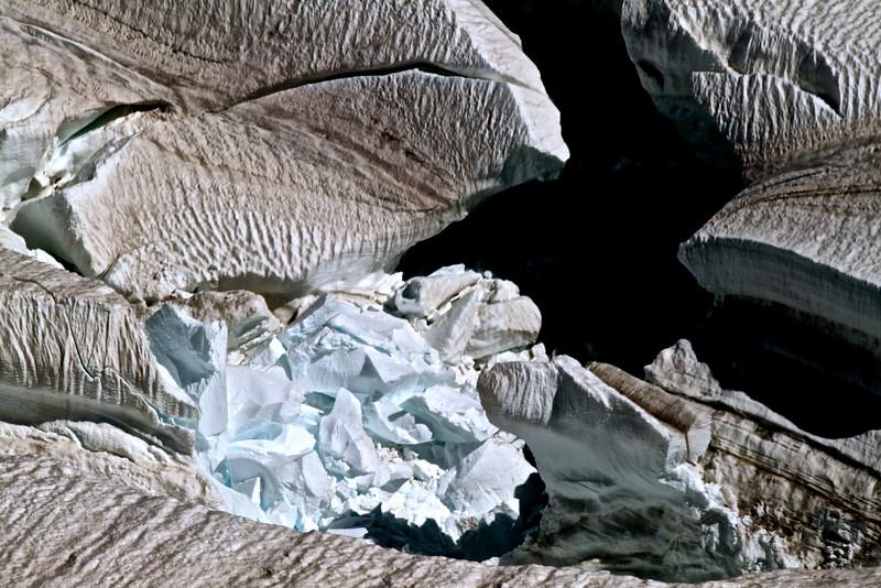 crevasse, vallée blanche